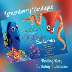 Finding,Dory,Birthday,invitations,Paper_Goods,Finding_Dory,Finding_Nemo,Nemo,Fish,Water,Blue,Digital,Download,5x7,Invitations,Birthday_invitations