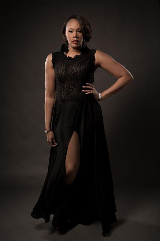 Black Satin Gown - Lavender\'s Jungle