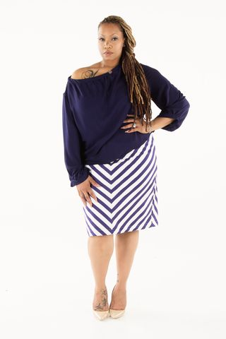 Striped,Pencil,Skirt
