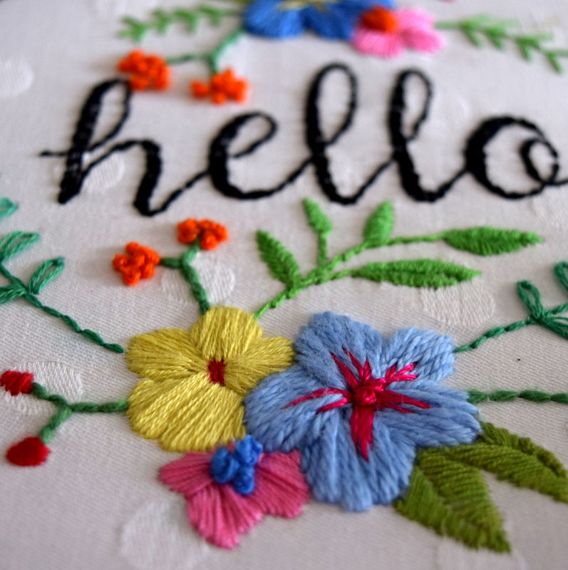 Beginners Hand Embroidery Workshop Leah Halliday