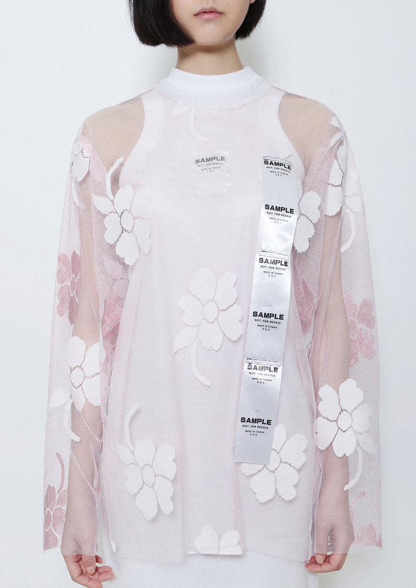 BABY PINK FLOWER SHELL TOP - product images  of