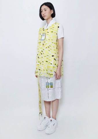 YELLOW,CAMOUFLAGE,TANK,TOP,8enny lin, ss16, online, buy, shop, webshop, designer, fashion, taiwan, cute, summer, sheer t-shirt, oversize, mesh top, cool, gift idea, love, girly, japanese style, minimal, monochrome, taiwan brand, label, handmade, tailor made