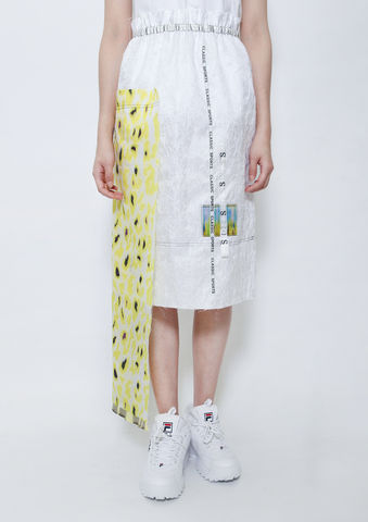 YELLOW,CAMOUFLAGE,SKIRT,8enny lin, ss16, online, buy, shop, webshop, designer, fashion, taiwan, cute, summer, sheer t-shirt, oversize, mesh top, cool, gift idea, love, girly, japanese style, minimal, monochrome, taiwan brand, label, handmade, tailor made