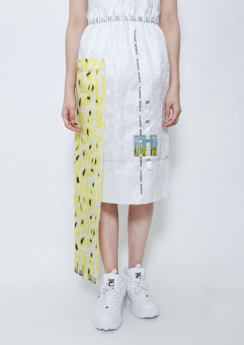 YELLOW CAMOUFLAGE SKIRT - product images  of