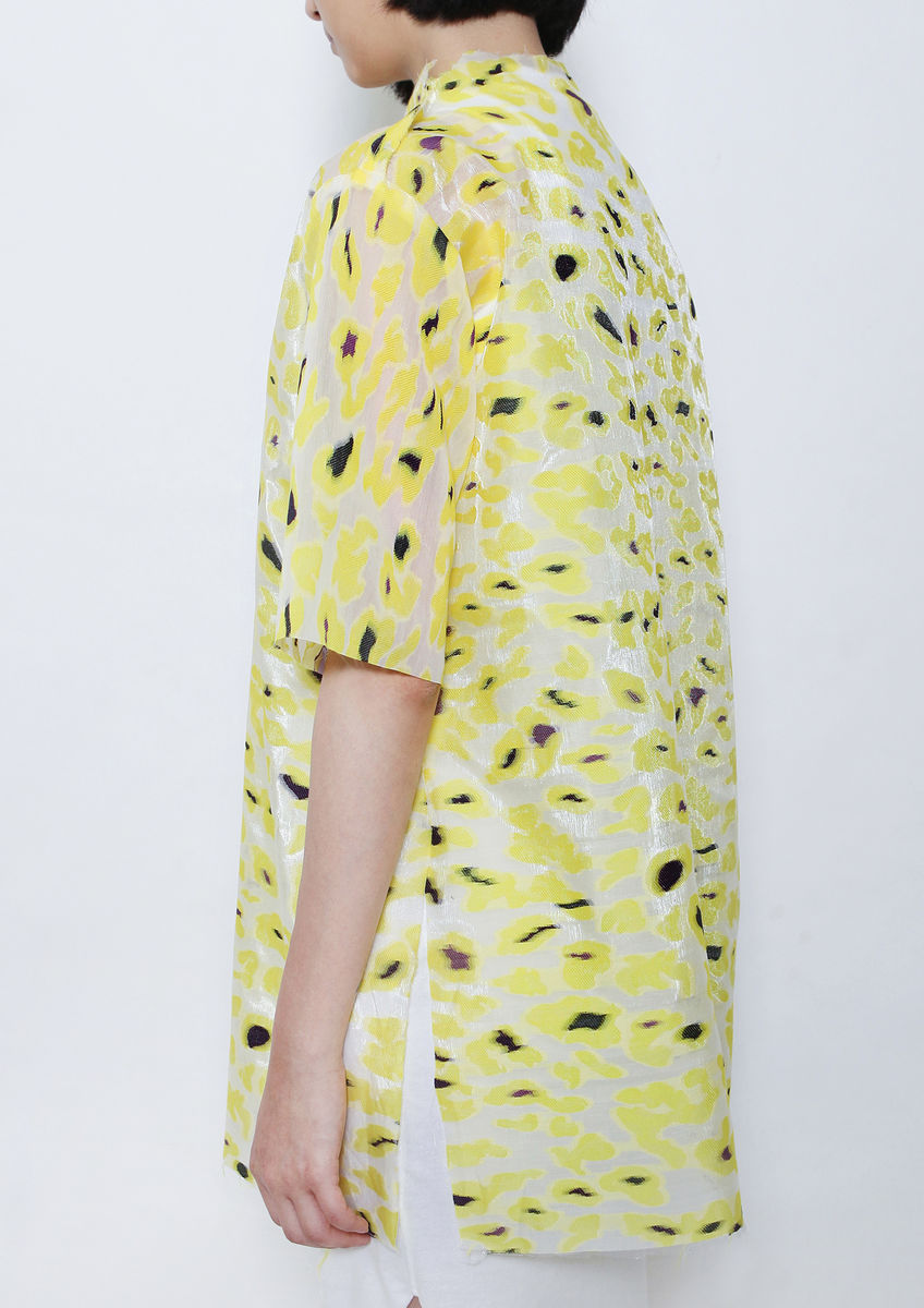 YELLOW CAMOUFLAGE TOP - product images  of