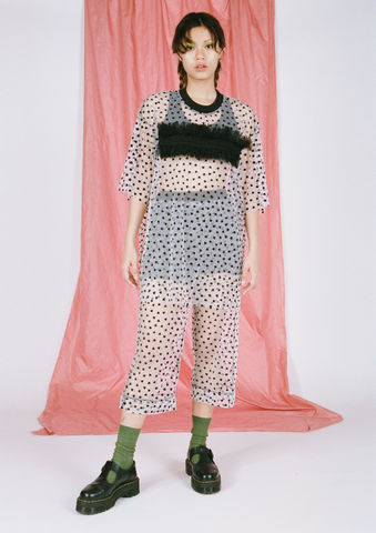 HEART,MESH,PANTS,somewhere nowhere, ss16, fashion, deisgner, online shop, hong kong, worldwide shipping, christmas, present, gift, kawaii clothing, cute cloths, girls, teen girls, handmade clothing, independent label, festival clothing, monochrome, black, white