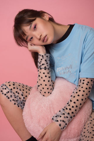 'HEDORO',EMBROIDERY,T-SHIRT,somewhere nowhere, aw15, fashion, deisgner, online shop, hong kong, unisex, london, worldwide shipping, christmas, present, gift, kawaii, cute, girly, pastel, blue, embroidery, t-shirt, japanese style, vintage, romance, oversize