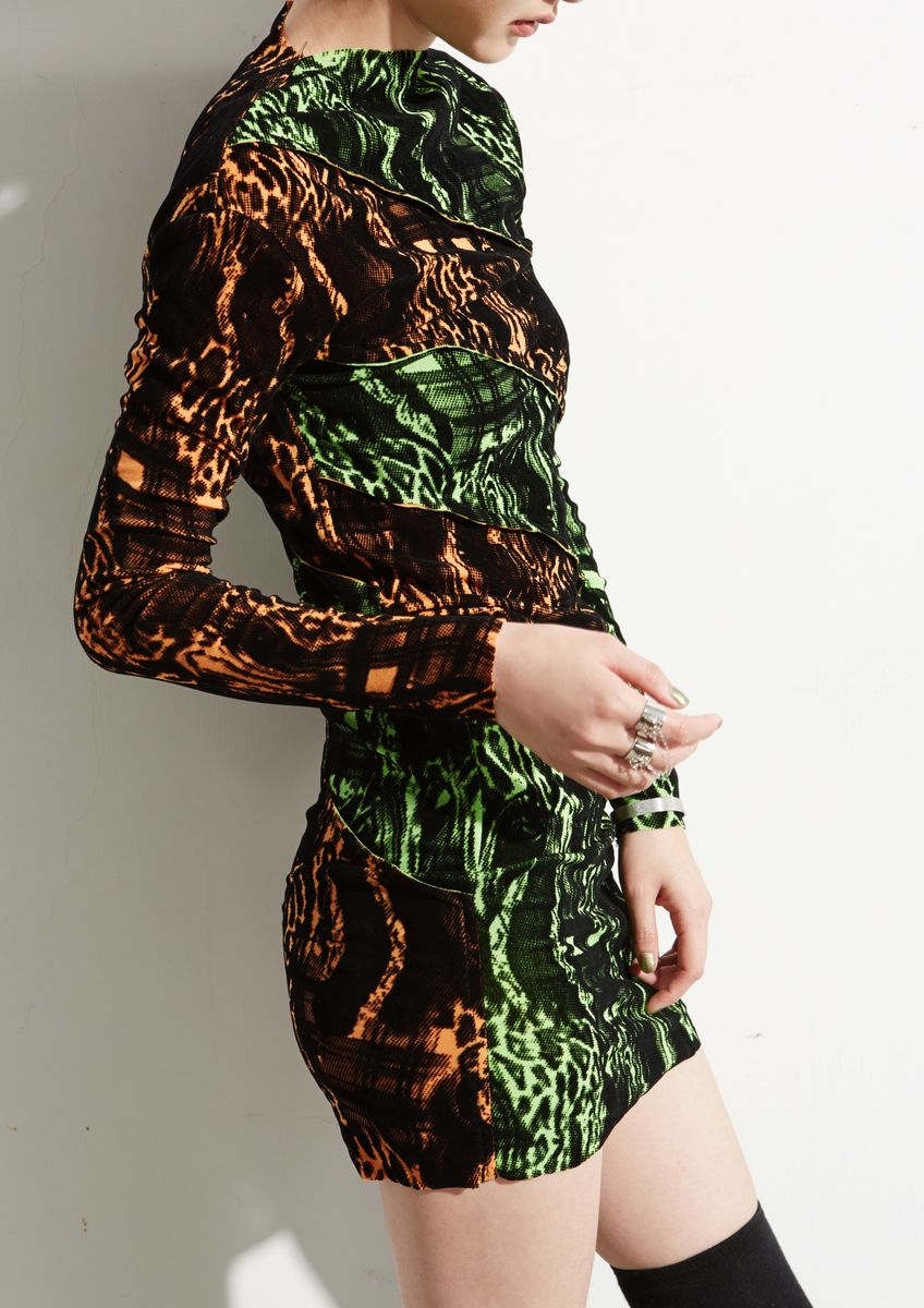 CUT AND SEW BODYCON DRESS - product images  of