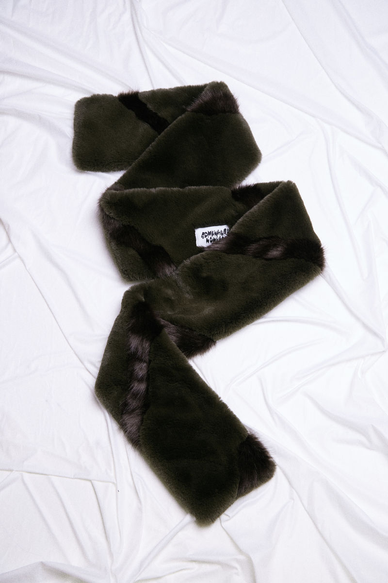 TWIST FAUX FUR SCARF - product images  of