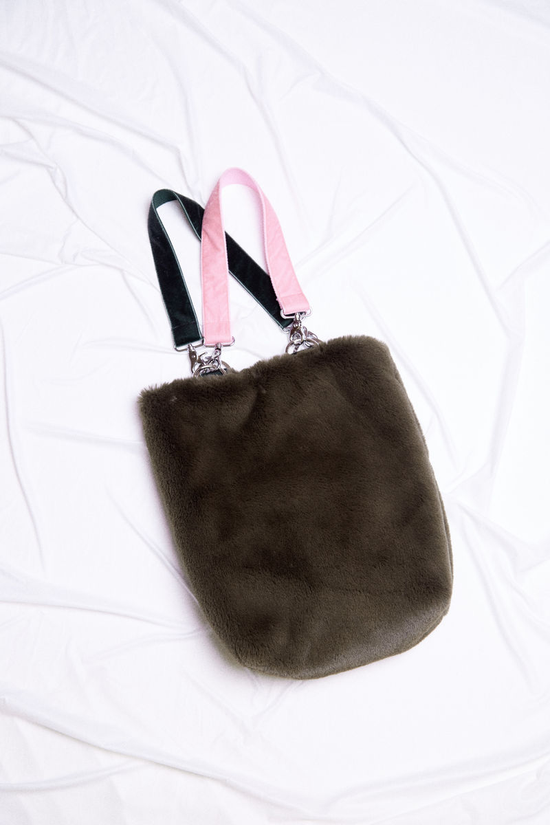 FAUX FUR TOTE - product images  of