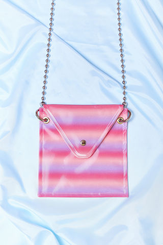 PINK,GRADIENT,CROSS,BODY,BAG,somewhere nowhere, hong kong, london, online shop, glitter bag, international shipping, wordwide shipping, free, discount, cheap, sparkle, cross body bag, ball chain, clothing, brand, designer, love, rainbow, colours, label, sweatshop free, customise, han