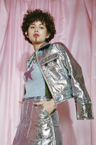 METALLIC,JACKET,somewhere nowhere, hong kong, london, online shop, clothing, brand, designer, love, rainbow, colours, label, sweatshop free, customise, handmade, independent, metal, jacket, collection, ss17, summer, spring, festival, cloths, fashion, metallic, heart, col