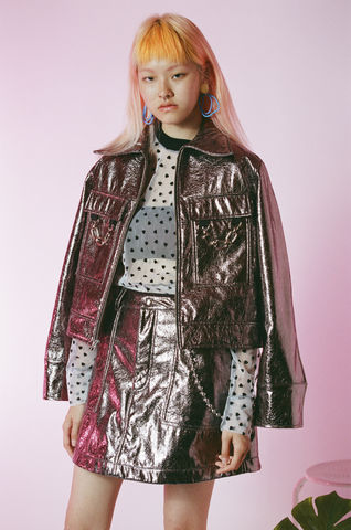 METALLIC,JACKET,somewhere nowhere, hong kong, london, online shop, clothing, brand, designer, love, rainbow, colours, label, sweatshop free, customise, handmade, independent, metal, jacket, collection, ss17, summer, spring, festival, cloths, fashion, metallic, col