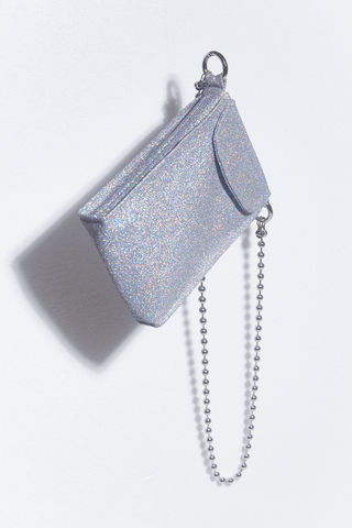 HOLO,GLITTER,CROSS,BODY,BAG,somewhere nowhere, international shipping, Rainbow holographic glitter, wordwide shipping, free, discount, cheap, hong kong, london, online shop, glitter bag, sparkle, cross body bag, ball chain, clothing, brand, designer, love, rainbow, colours, label, s