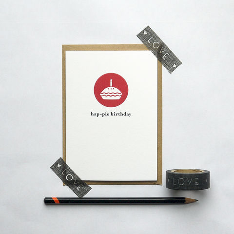 Hap-pie,Birthday,Card, lancashire, dialect, card