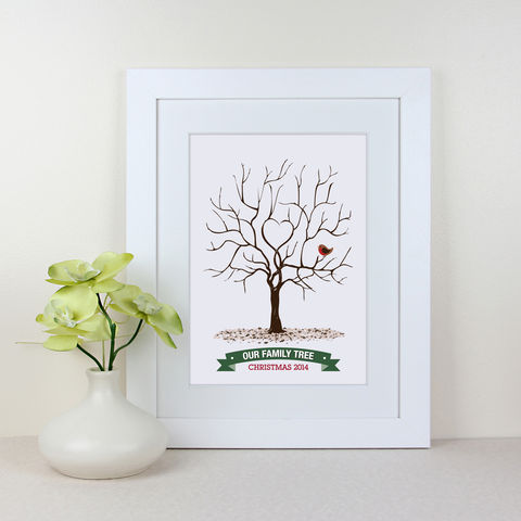 Our,Family,Fingerprint,Tree,Christmas,2014,Grandparent Christmas Present family gift