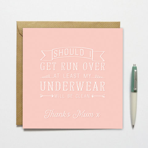 Mother's,Day,Clean,Underwear,Card,Mother's Day Card