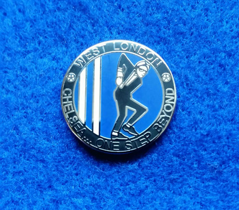West,London,'One,Step,Beyond',Pin,Badge,Chelsea FC Enamel Badge Pin Football Souvenir Collectable West London One Step Beyond Ska Man