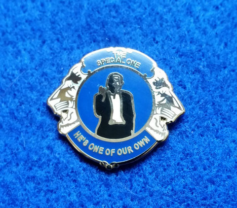 'The,Special,One',Pin,Badge,Chelsea FC Enamel Badge Pin Football Souvenir Collectable The Special One He's One of Our Own Jose Mourinho