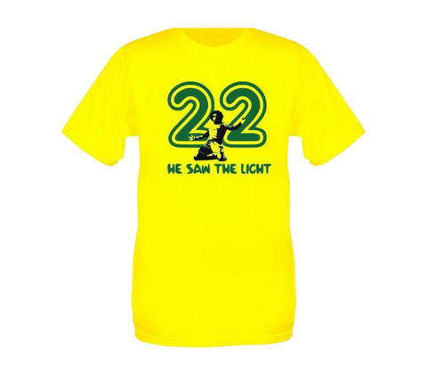22,'He,Saw,The,Light',He saw the light Willian 22 Chelsea fc football t-shirt