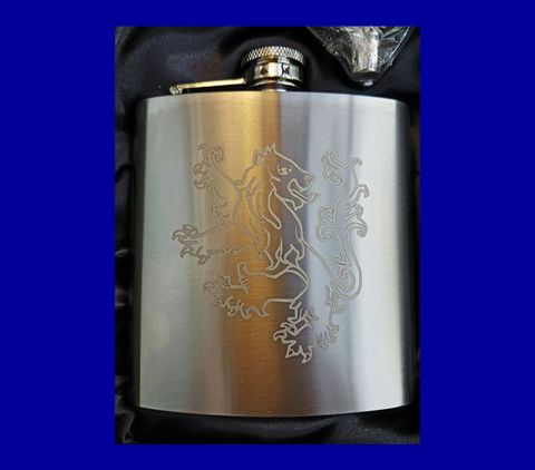 'Lion' 6oz Hip Flask - product images  of