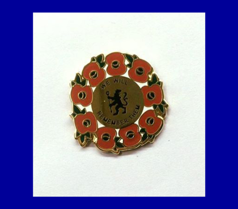 'We,Will,Remember,Them',Pin,Badge,Poppy badge pin Chelsea FC