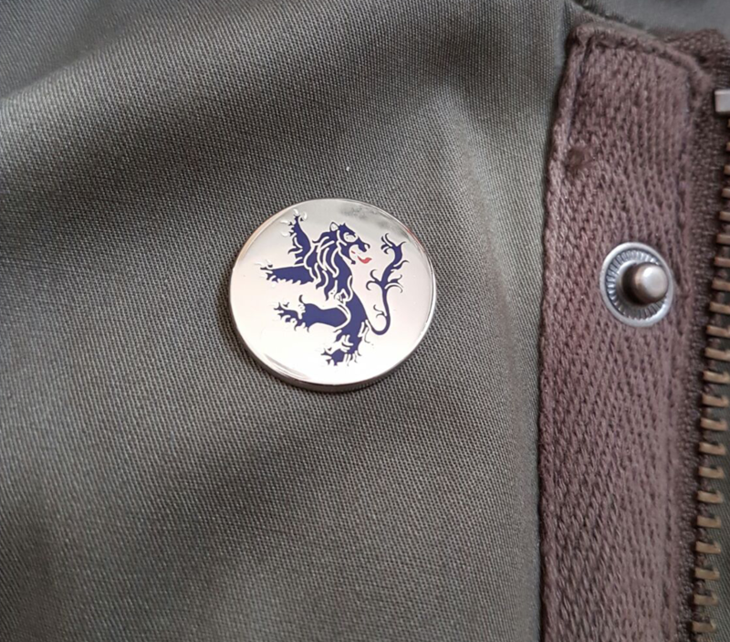 'Rampant Lion' Badge pin - product images  of
