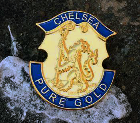 'PURE,GOLD',Badge,Pin,Chelsea FC Badge Pin Pure Gold souvenir lion