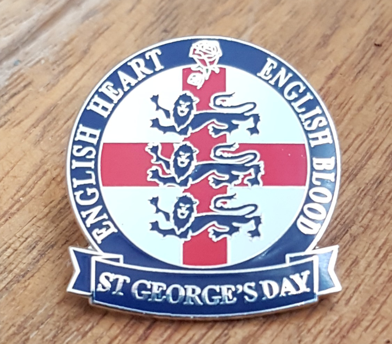 'England' St George's Day badge pin - product image