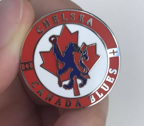 'Canada,Blues',Badge,Pin,Canada Blues Chelsea FC hard enamel badge pin