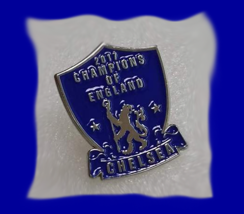 'Champions,of,England',Badge,Pin,Champions of England Chelsea FC badge pin