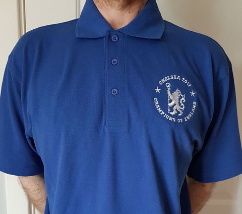 'Champions,of,England',-,Standard,polo,(Mens,,Ladies,+,Kids),Chelsea FC tee t shirt CHAMPIONS OF ENGLAND