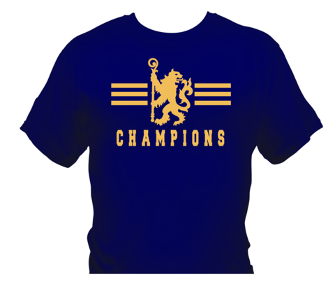 'Champions,1',T-Shirts,Gold/Navy,(Adults,and,Kids),Chelsea FC tee t shirt polo CHAMPIONS OF ENGLAND