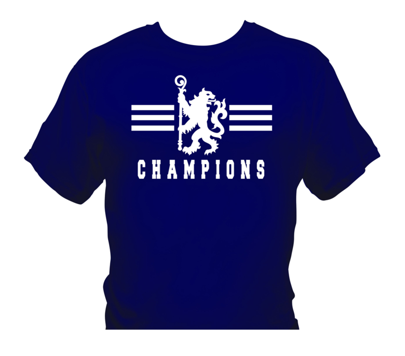 'Champions 2' T-Shirts  White/Navy   (Adults and Kids)       - product image