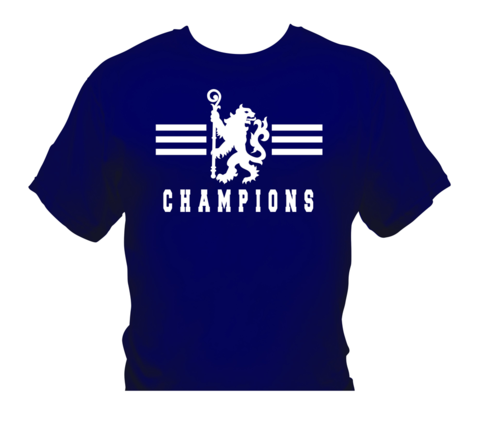 'Champions,2',T-Shirts,White/Navy,(Adults,and,Kids),Chelsea FC tee t shirt polo CHAMPIONS OF ENGLAND