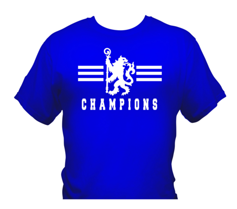'Champions,3',T-Shirts,White/Royal,Blue,(Adults,and,Kids),Chelsea FC tee t shirt polo CHAMPIONS OF ENGLAND