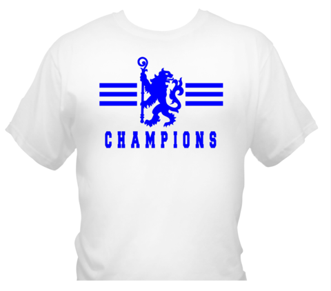 'Champions,4',T-Shirts,White,(Adults,and,Kids),Chelsea FC tee t shirt polo CHAMPIONS OF ENGLAND