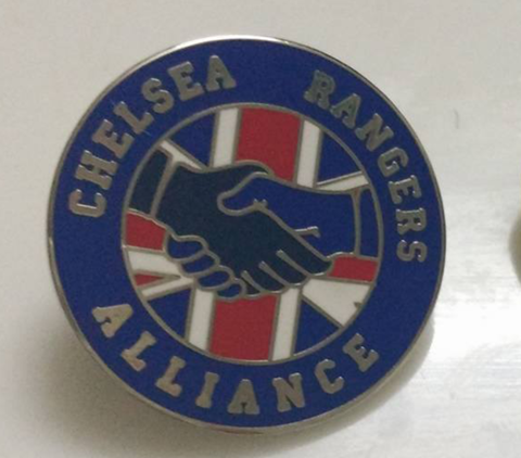 'Alliance',SILVER,Badge,pin,Chelsea FC enamel badge pin chelsea rangers souvenir alliance