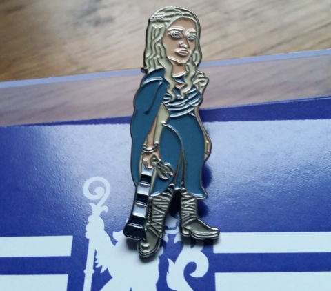 'Dragon,Queen',Badge,pin,Chelsea FC enamel badge pin blue and white dragon queen khaleesi Game of Thrones GoT