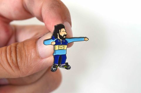 Pirlo's,Beard,pin,Pirlo , italy,  football ,  casual , icon , , aguycalledminty , illustration , artwork , print
