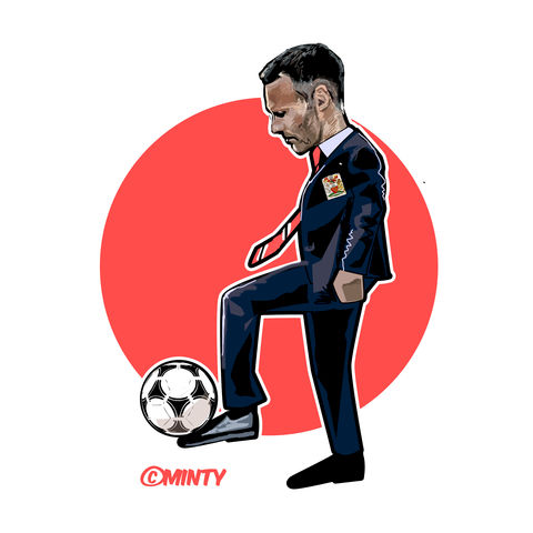 Giggs,the,Gaffer,print.......,giggs, ryan , football , manchester ute , hooligan , film  , aguycalledminty , casual .