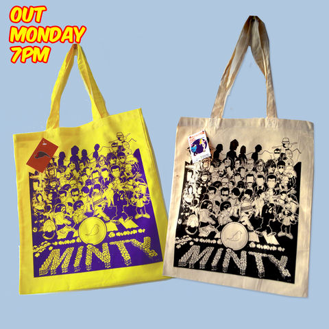 Sgt,Paper,Tote,Bag..,tote bag , aguycalledminty, sgt.paper , music, film ,artwork , beatles , stone roses