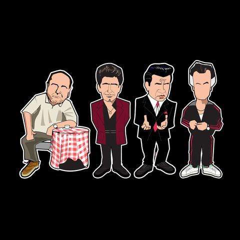 Sopranos,Pin,Set,.....,PREORDER,,Dead Man Shoes , film , shane meadows , aguycalledminty , illustration , pin badge , design