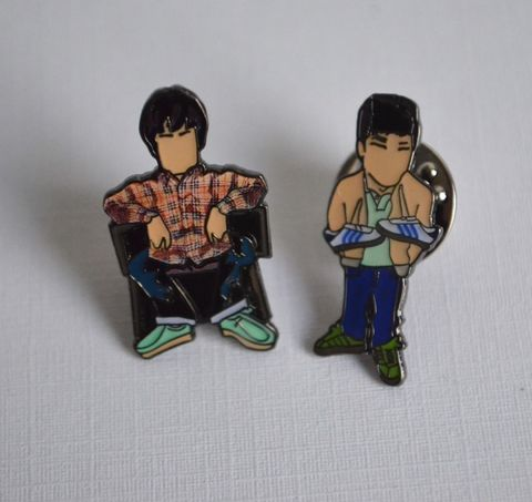 Brotherly,Love,pin,set.....,Oasis, liam gallagher , noel gallagher , oasis , madhcester , music , adidas , adidas ardwick , oi polloi , , pin badge , pin badge love, aguycalledminty , illustration , design