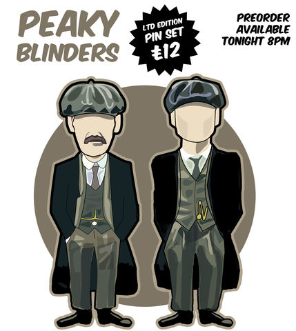 Peaky,Blinders,...........,PIN,SET,PREORDER.,Peaky Blinders , illustration , design , art , artwork , world cup , pirlo , laudrup , gazza , zidane , rush , souness , gullit , puyol