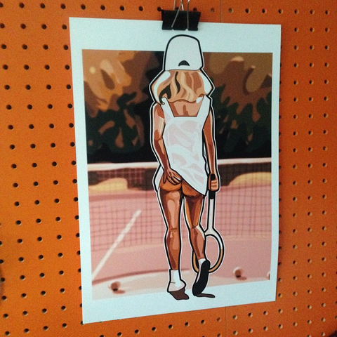 New,Balls,Please.....,...........,Print..,tennis ,  wimbledon , cheeky , tongue in cheek , illustration ,design , print , aguycalledminty
