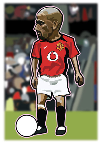 Veron,Print........,manchester united , george Best, football , french , illustration , design , artwork , love
