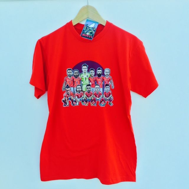 Wales Team v Belgium ...PREORDER........Tshirt.. - product images  of