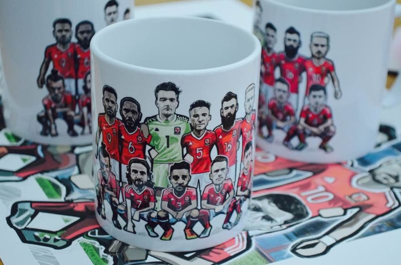 Wales team Mint Tea MUG - product images  of