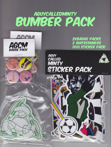 AGCM,Bumper,Pack,sticker, stickers , badge , button badge , air fresheners , casuals , football , sub culture